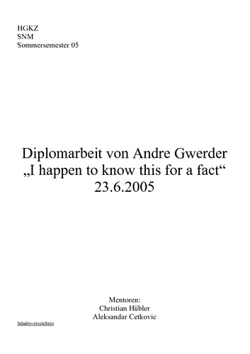 Bild:  I happen to know this for a fact