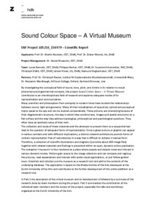 Bild:  Sound Colour Space: Final Report