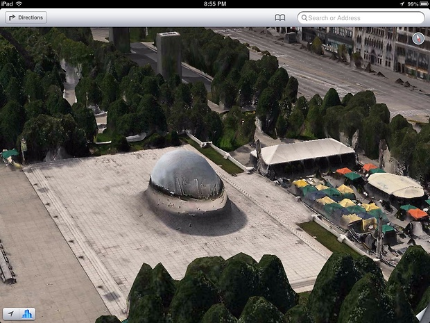 Bild:  A Chicago heat wave has melted the Bean
