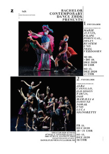 Bild:  Bachelor Contemporary Dance ZHdK presents
