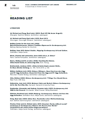 Bild:  CCCA Reading List