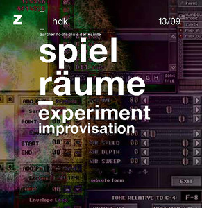 Bild:  13|2009|zhdk records|spielräume|experiment improvisation