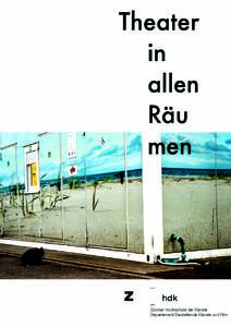 Picture: Theater in allen Räumen 2015