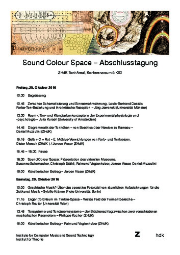 Picture: Abschlusstagung «Sound Colour Space»