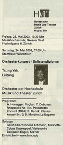 Picture: Orchesterkonzert (Tsung Yeh, Leitung