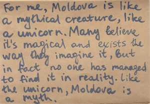 "Picture: Writing about Moldova. Artiom Zavadovsky, Summer de(School)ing participant. ""Taxonomy Moldova. Re-Searching"", 2019"