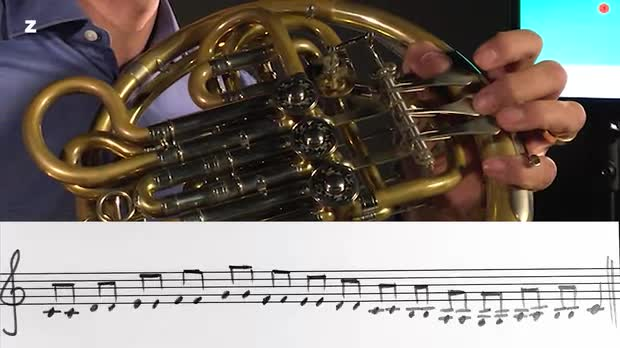 Bild:  FrenchHorn Exercise for everyday