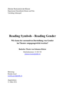 Picture: Reading Symbols - Reading Gender