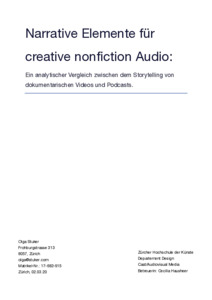 Bild:  Narrative Elemente für creative nonfiction Audio