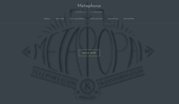 Bild:  Metaphorai – Teleportation & Transformation Services: Possibilities of the Impossible
