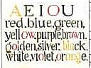 Bild:  Coloured Vowels