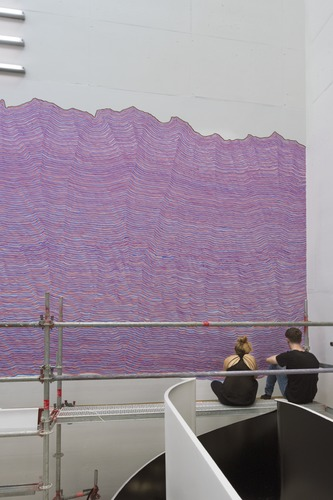 Picture: Realisation: Sol LeWitt Walldrawing #730