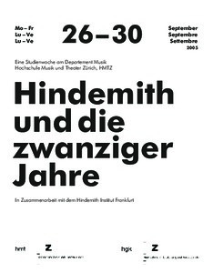 Picture: Studienwoche Hindemith