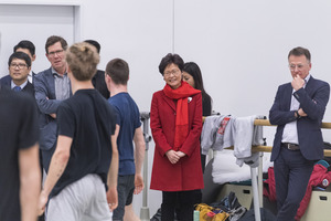 Picture: Hong Kong Chief Executive Carrie Lam visited Zurich University of the Arts