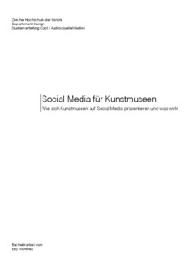 "Bild:  Eloy Martinez ""Kunstmuseum St.Gallen goes Social Media"""