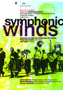Bild:  Symphonic Winds