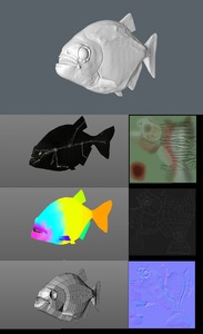 Picture: ZModul-Cinema4DRuedy_Stacher_Textures_Normals_HighPoly_LowPoly