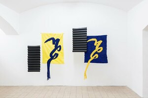 Bild:  The Tapestry: Blue Ribbon and Yellow Ribbon