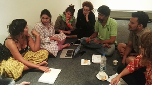 Bild:  InOctober – International Network for Contemporary Public Art | Caption: Group work at Shiv Nadar University, October School Delhi 2017 | Credit: unknown