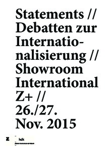 Bild:  06_Showroom International Z+: Whose agenda? (11/2015)