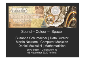 Bild:  Sound Colour Space: Datenkuratorin, Computermusiker und Mathematiker am Digitalen Museum