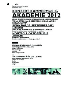 Picture: Programm